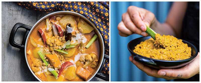 Vegansk streetfood med färgsprakande röror, wokade nudlar och krispigt friterat.