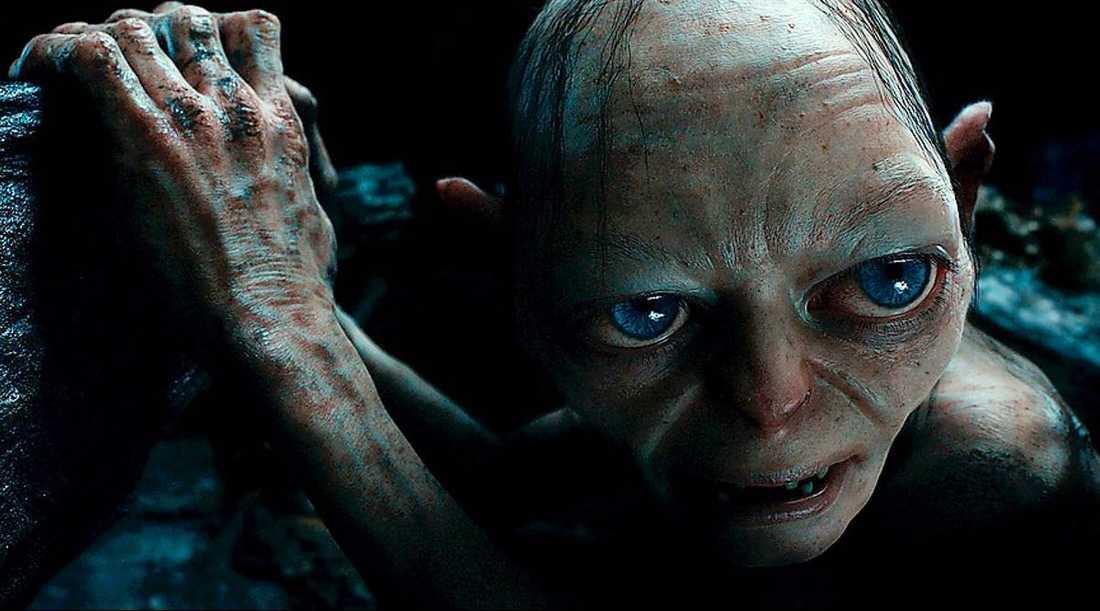 Andy Serkis som uttrycksfull Gollum.