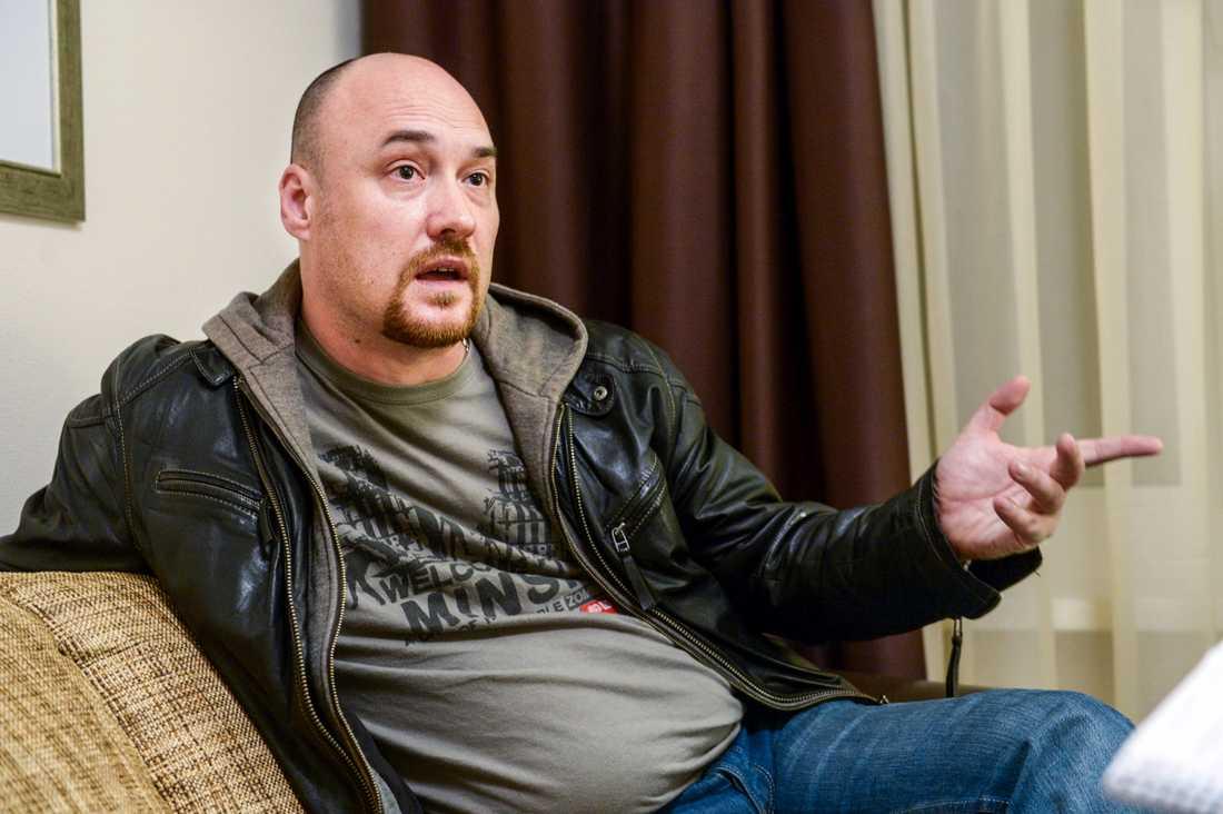 Valentin Stefanovitj, jurist och vice ordförande för Vjasna. Arkivbild från en tidigare TT-intervju 2014.