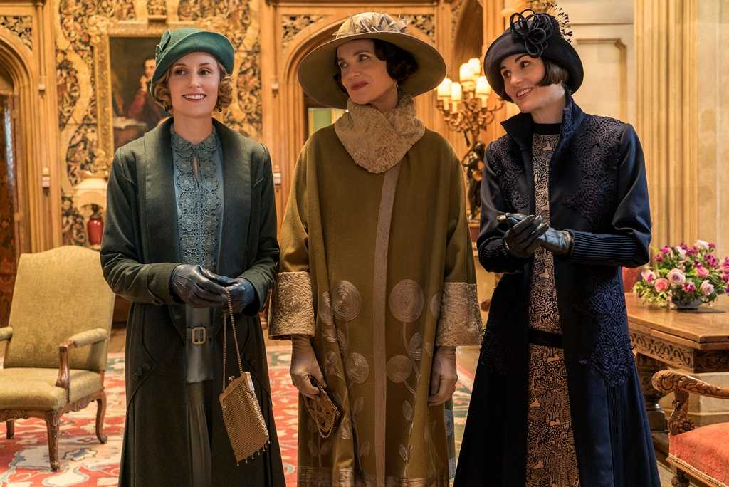 "Laura Carmichael, Elizabeth McGovern och Michelle Dockery i ""Downton Abbey""."
