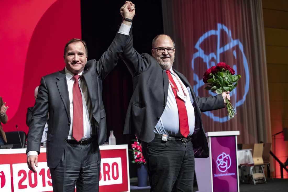 Karl-Petter Thorwaldsson (till höger) vill inte bli S-ledare efter Stefan Löfven.