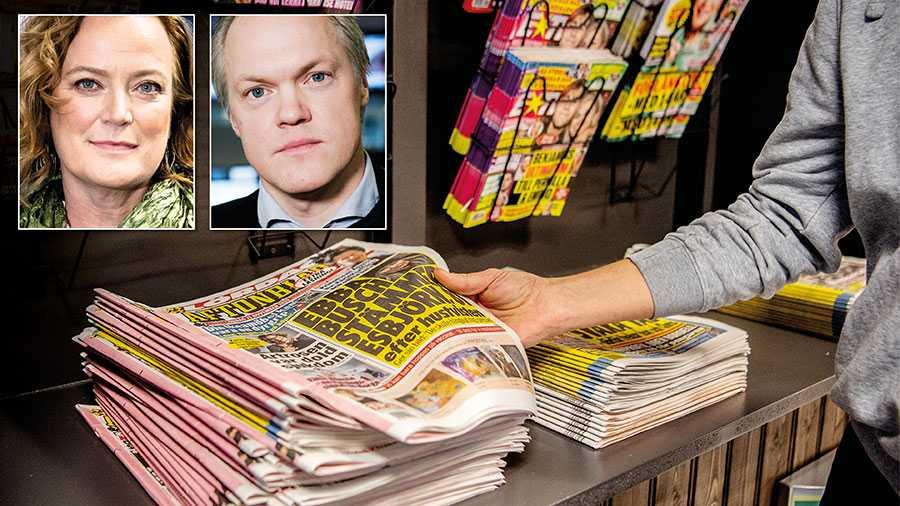 Starka lobbyingkrafter vill att tidningarna ska få en extra kostnad på cirka 465 miljoner kronor om året. Nu är det viktigt att regeringen står upp för beskedet att producentansvaret för returpapper inte ska drabba journalistiken, skriver Lena K Samuelsson, Aftonbladet, och Klas Granström, Expressen.