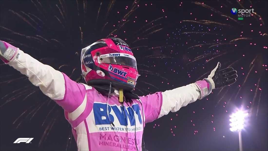 Sergio Perez firar sin första seger i Formel 1.
