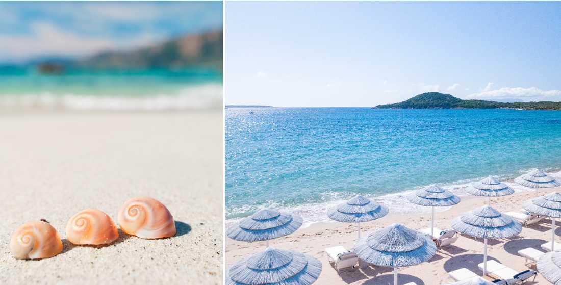Turister har svårt att lämna snäckorna och sanden på Sardinien.