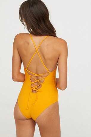 Modellerna visar upp badkläder utan att få naturliga inslag som bristningar bortretuscherade.