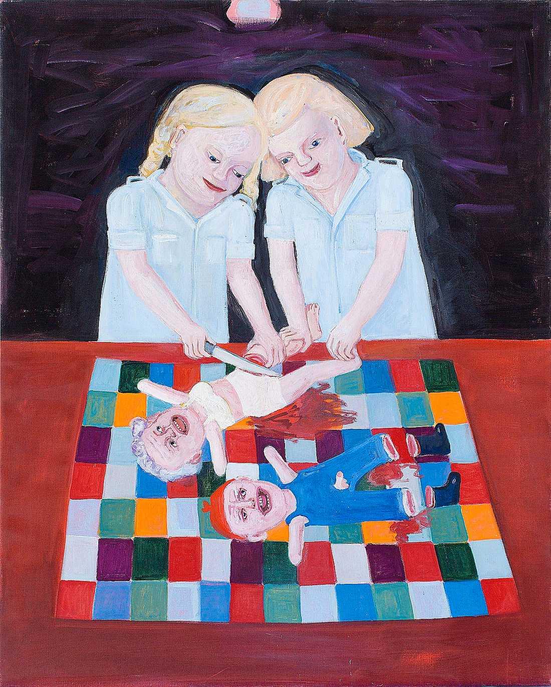 """Lena Cronqvist """"Operation I"""", 2001, äggoljetempera på duk. Foto: Mattias Lindbäck"""