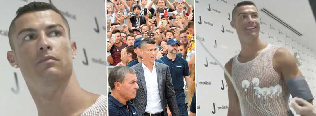 Ronaldo på läkarundersökning.