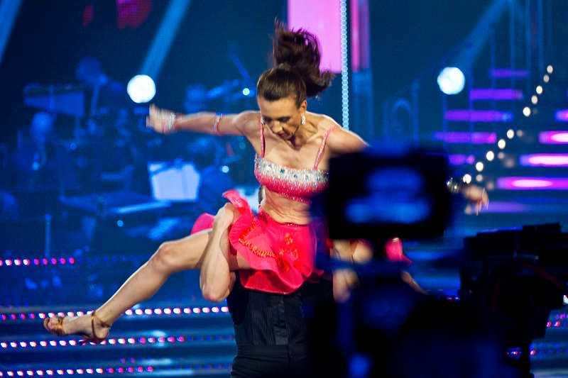 Camilla Läckberg tävlade i Lets dance förra året.