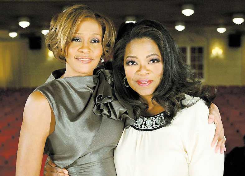Whitney Houston intervjuades av Oprah Winfrey.