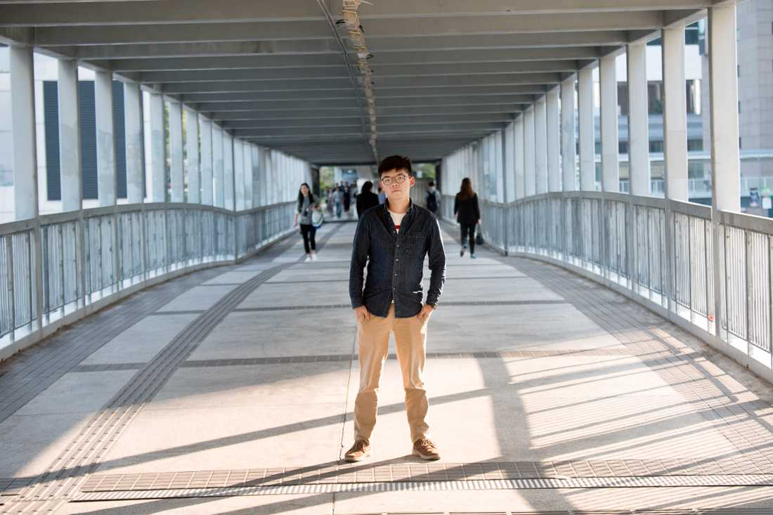 Johsua Wong, proteströrelsen i Hongkongs ansikte utåt