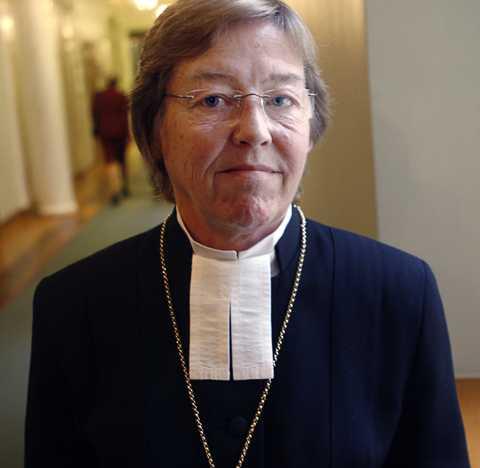 Biskopen Eva Brunne.