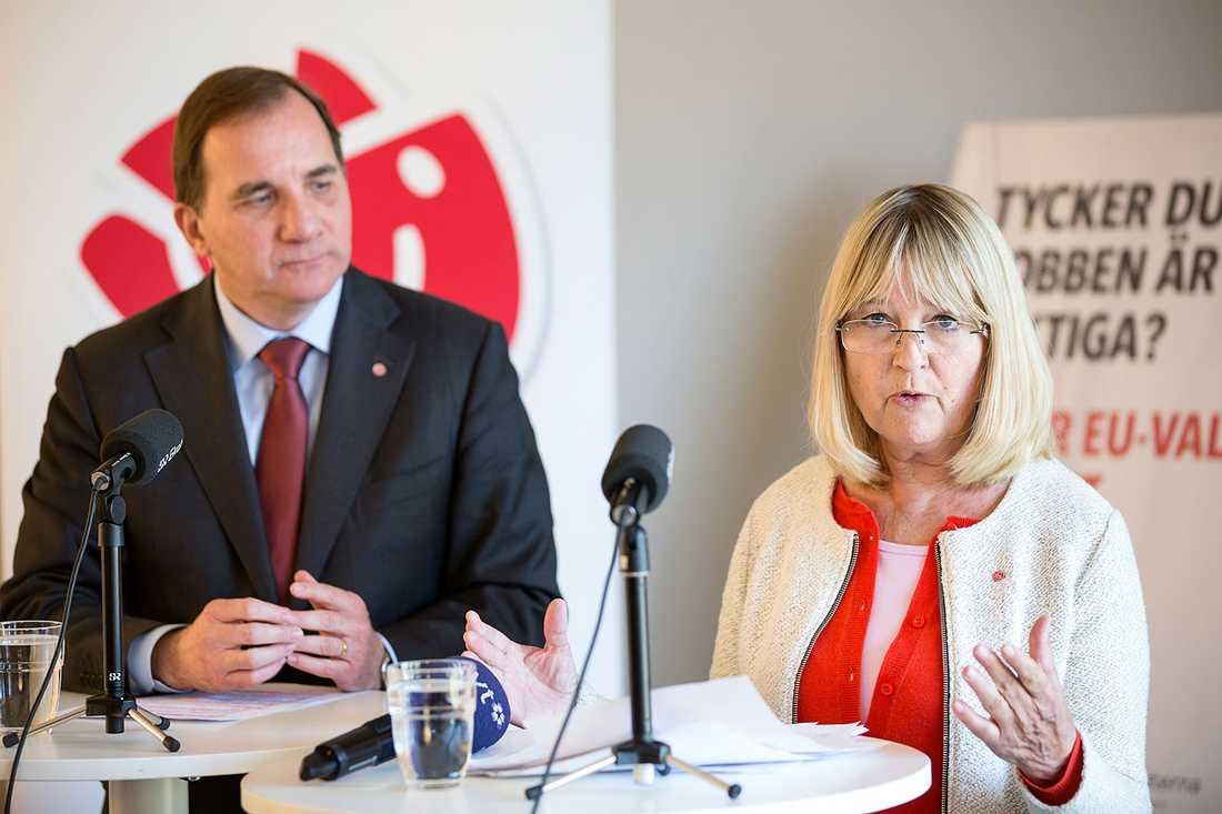 Stefan Löfven och Marita Ulvskog.