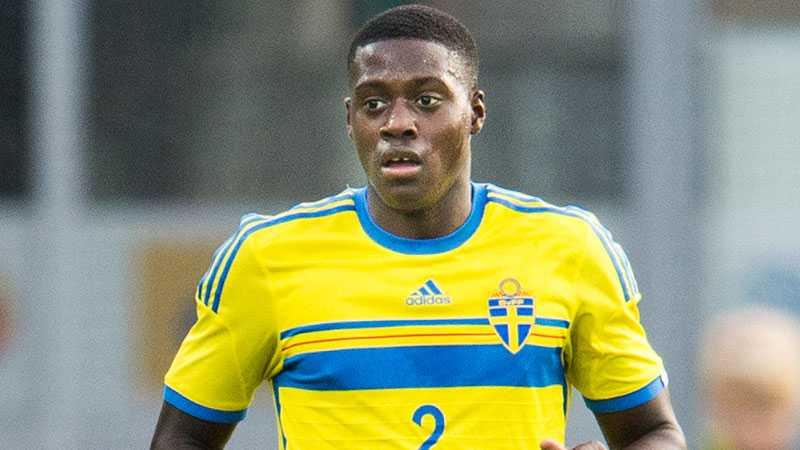 Isak Ssewankambo i U21-landslaget.