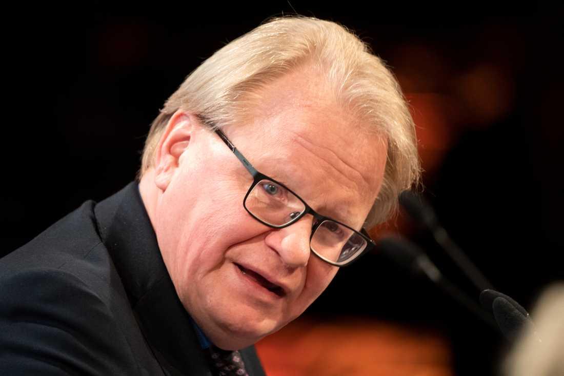 Försvarsminister Peter Hultqvist (S). Arkivbild.