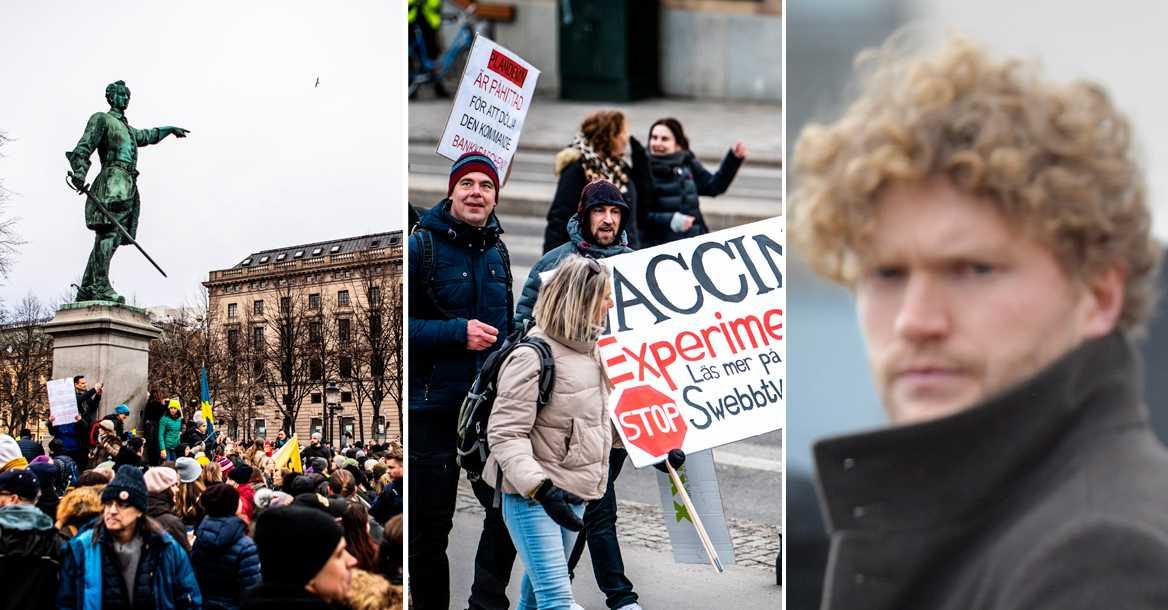 Filip Sjöström riskerar 20 000 kronor i vite efter demo
