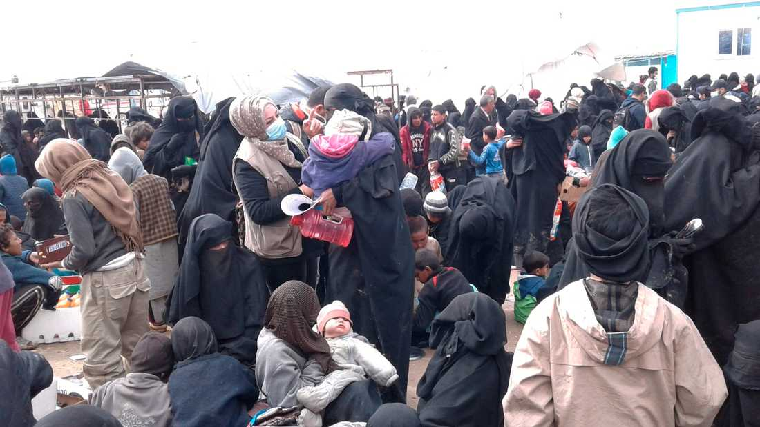 Bild från flyktinglägret al-Hol i nordöstra Syrien.