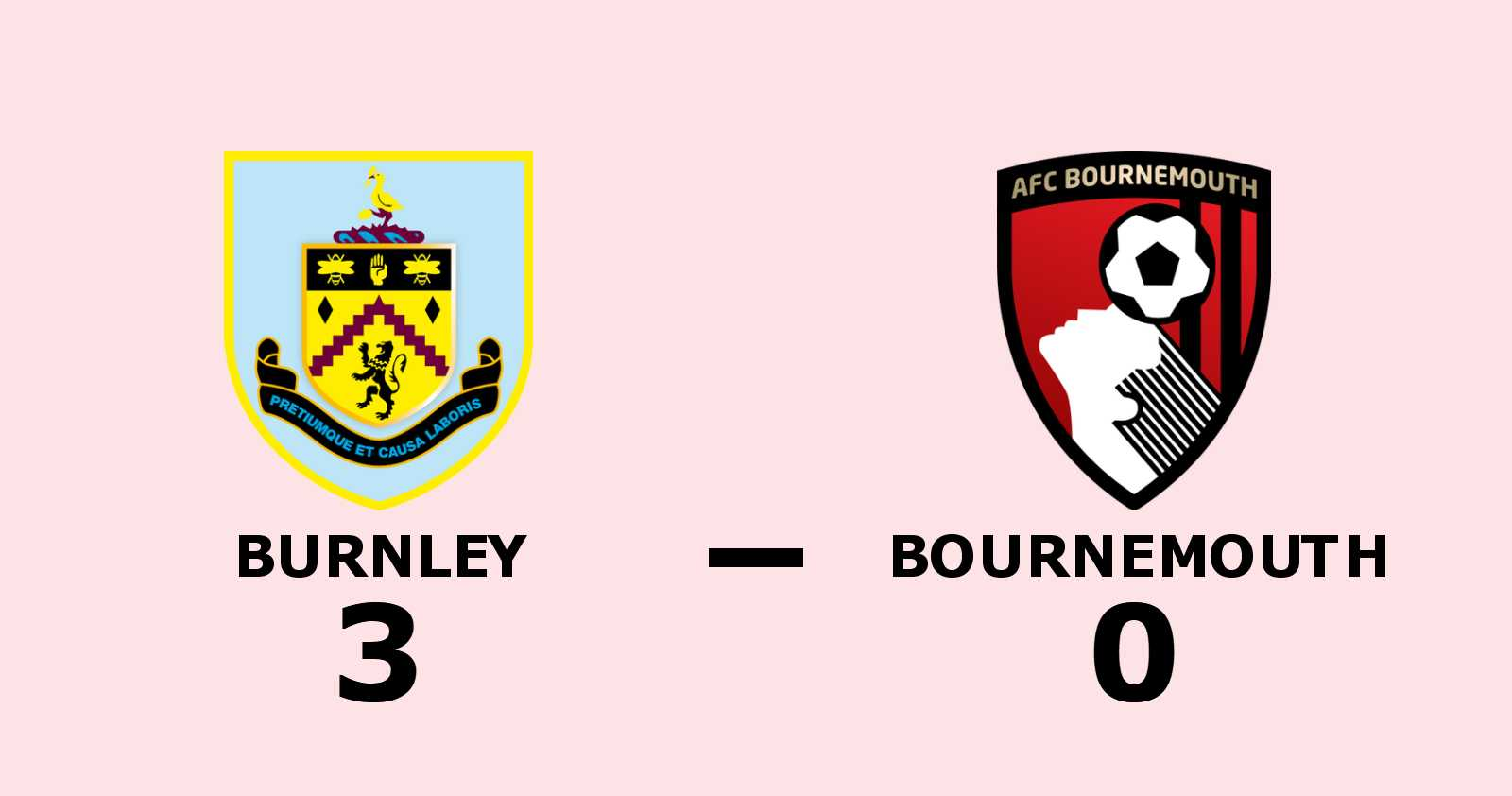 Stark andra halvlek räckte för Burnley mot Bournemouth