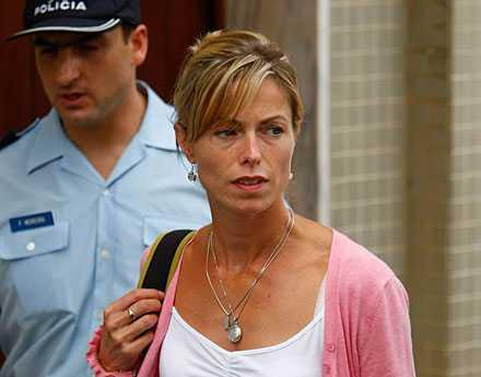 Kate McCann efter förhör hos portugisiska polisen.