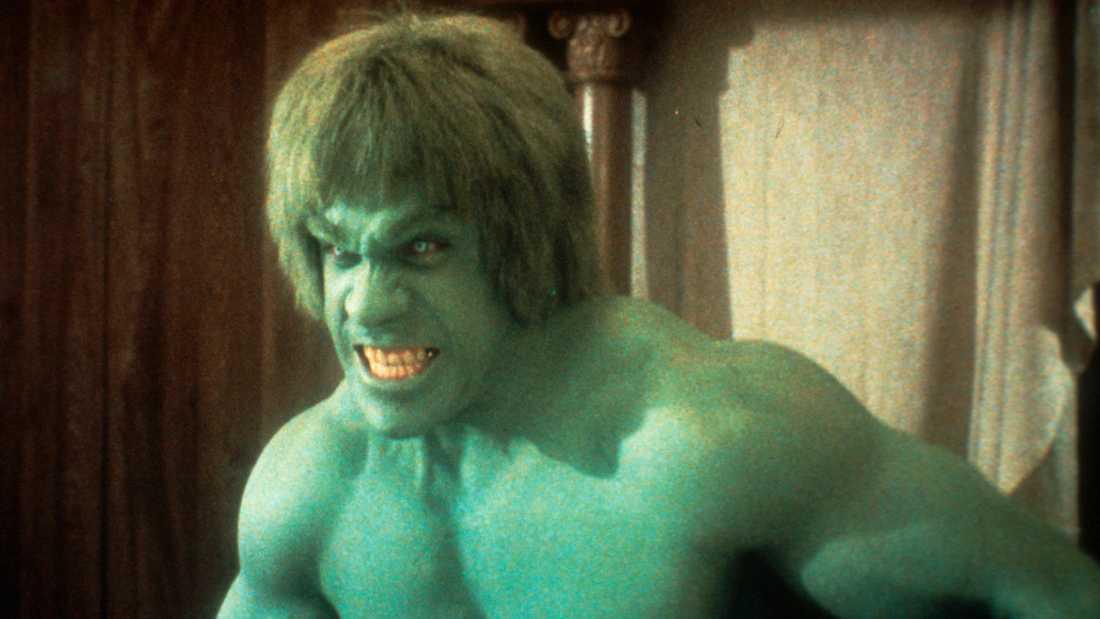 """Lou Ferrigno som """"Hulken""""."""