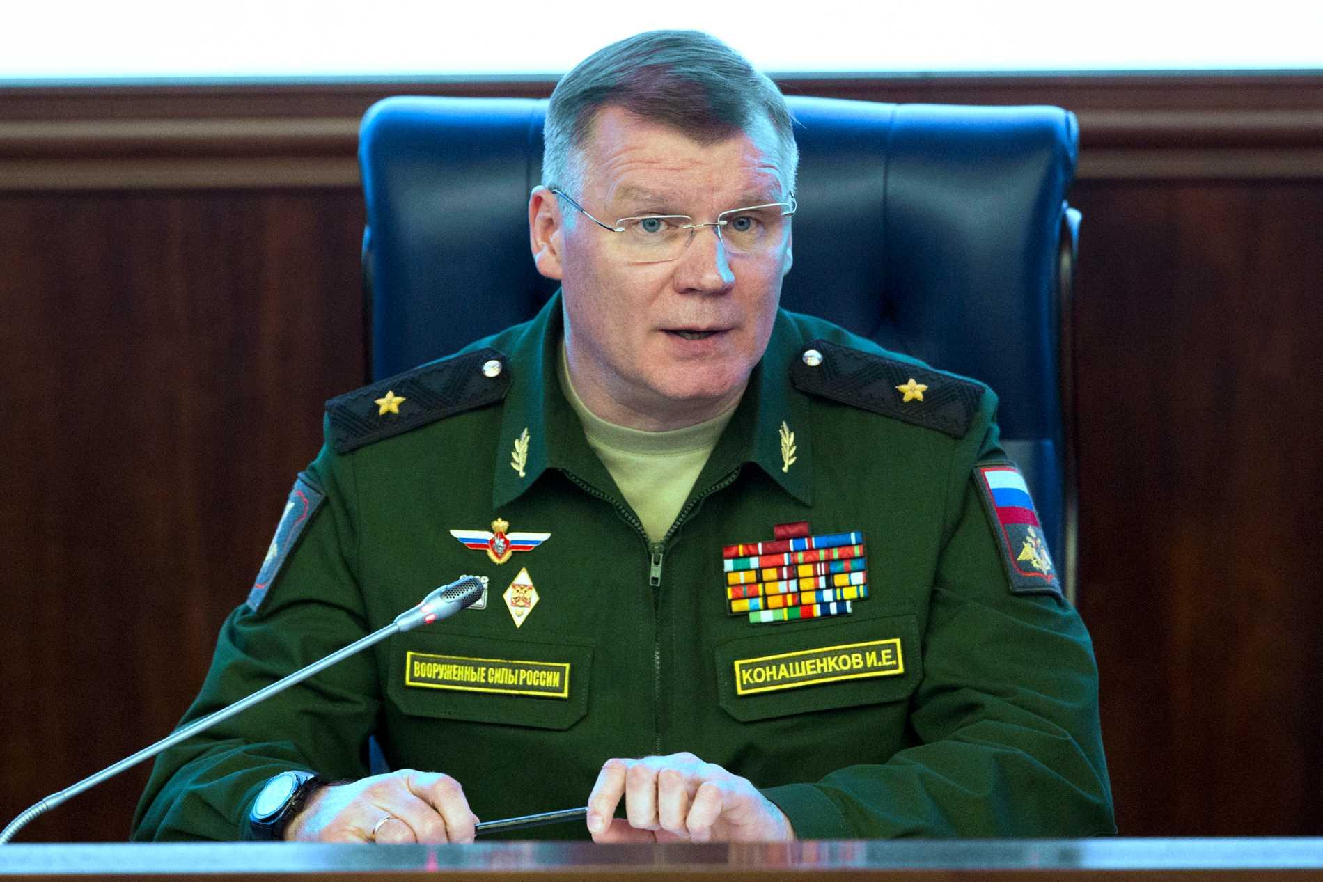 Ryske generalmajoren Igor Konashenkov anser att en ny turkisk insats i norra Syrien kan skada försöken att skapa stabilitet i området. Arkivbild
