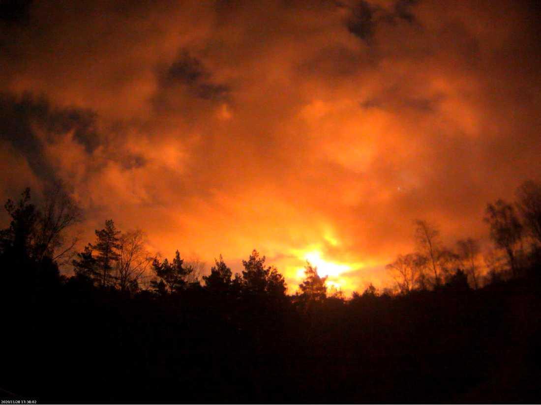 Rymdstenen fångades på film i Norge av Norsk meteornettverk.