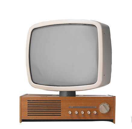 Tv med vridbar skärm, Luma, 1959.