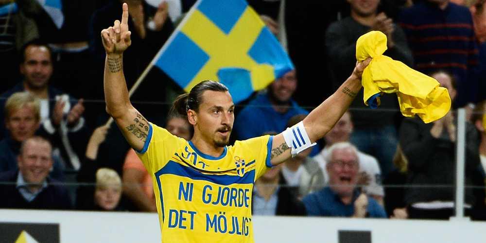 Den 4 september 2014 slår Zlatan det 82 år gamla målrekordet i svenska landslaget när han gör sitt 49:e och 50:e mål.