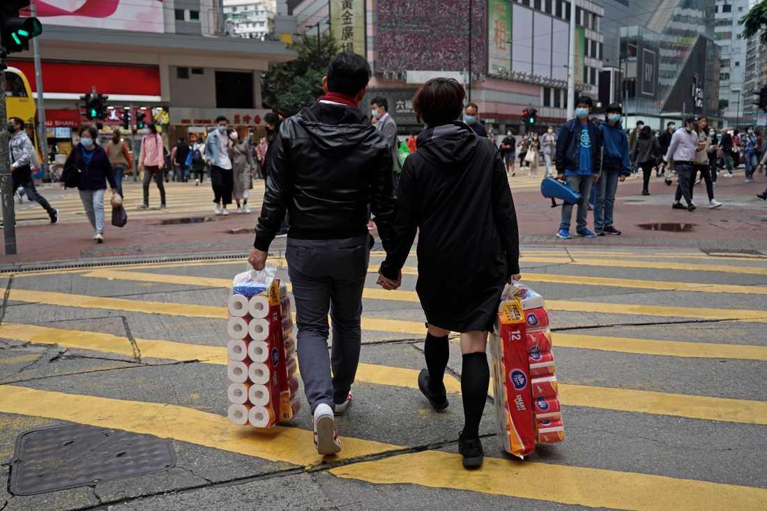 Även i Hongkong gick det åt toapapper.
