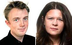 Markus Gustafsson, nyhetschef, och Maria Trägårdh, projektchef.