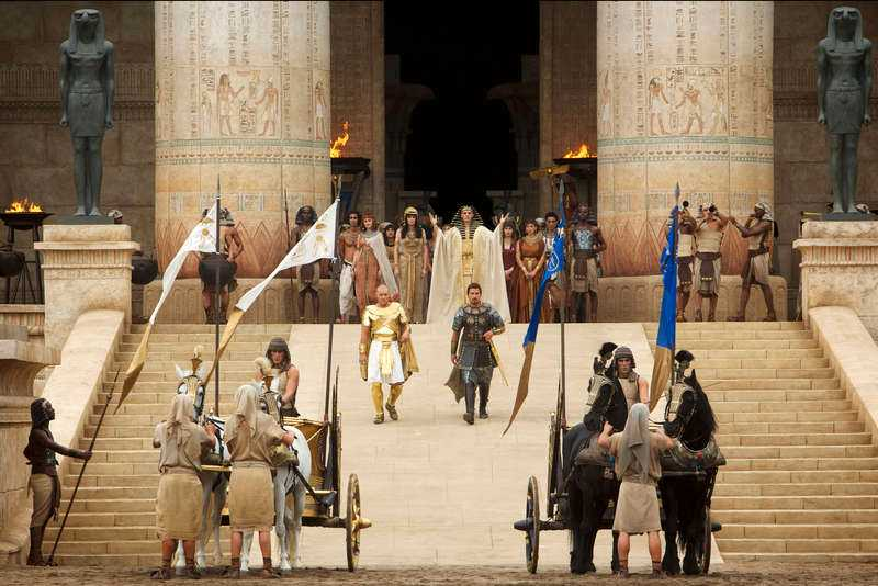 Christian Bale och Joel Edgerton gör bra insatser som de forna barndomskamraterna i Exodus Gods and kings.