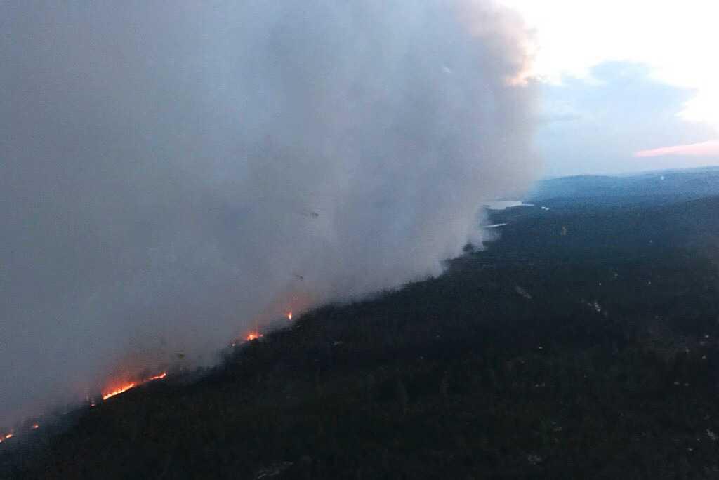 Branden vid Grötingeberget/Äxingmyrkullen.