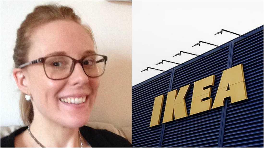 Hon hyllar medarbetaren på Ikea.