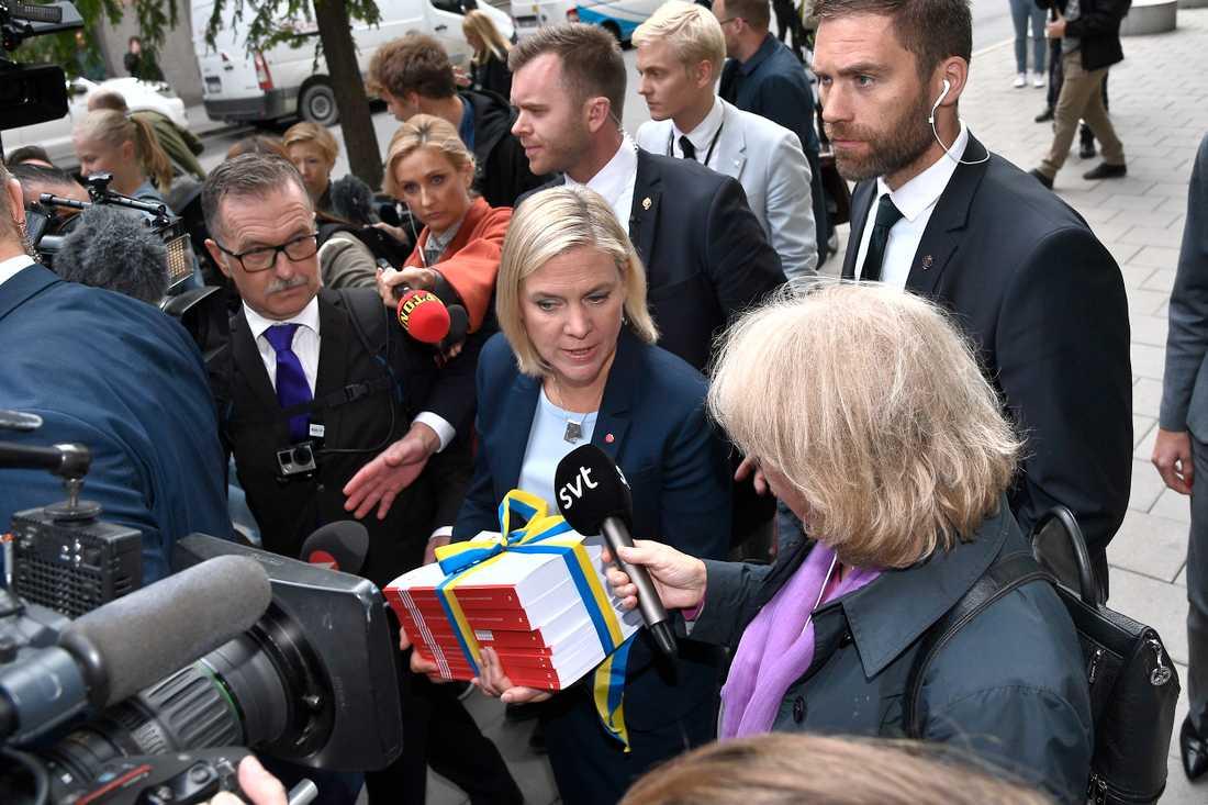 På onsdag ska finansminister Magdalena Andersson presentera statsbudgeten.