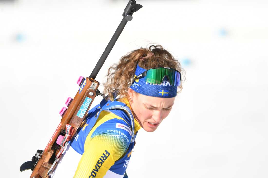 Hanna Öberg hade en tuff dag i Antholz.