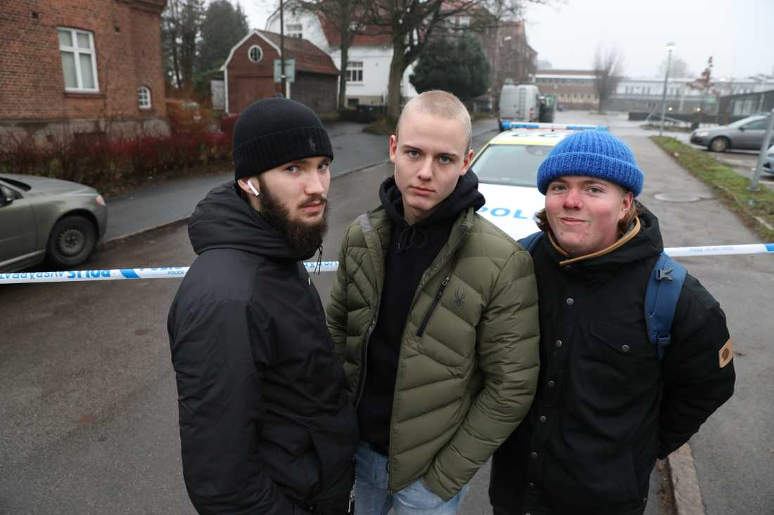 Lucas Andersson, Luca Lind, Johan Svensson.