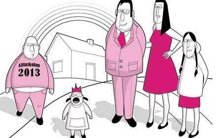 Möt familjen Johansson som lever i Sverige år 2013 där moderaterna sätter agendan.