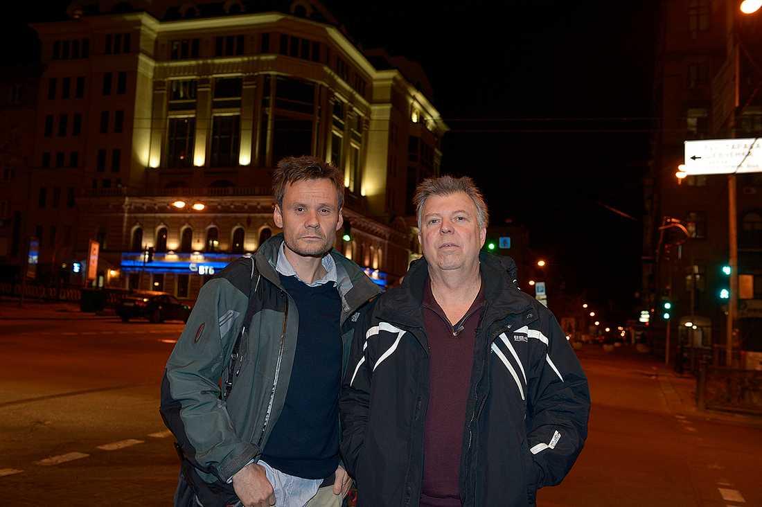 Aftonbladets Jerker Ivarsson och Wolfgang Hansson på plats i Kiev, Ukraina.