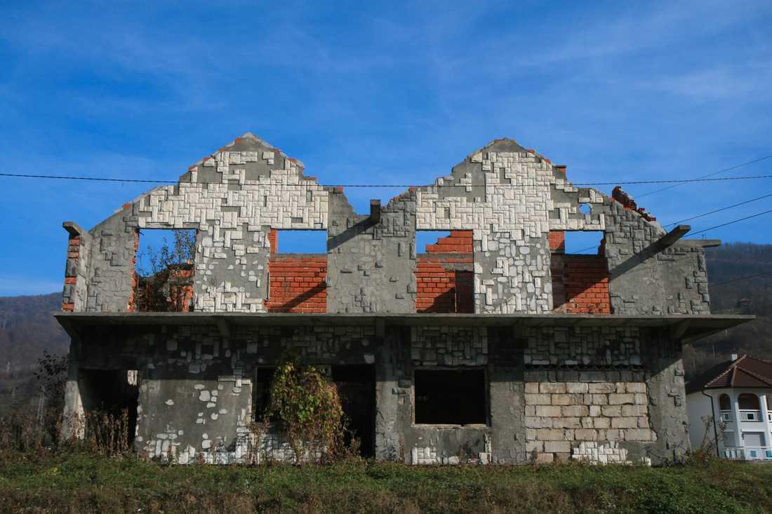 Byarna kring Srebrenica är fortfarande till stor del spökstäder