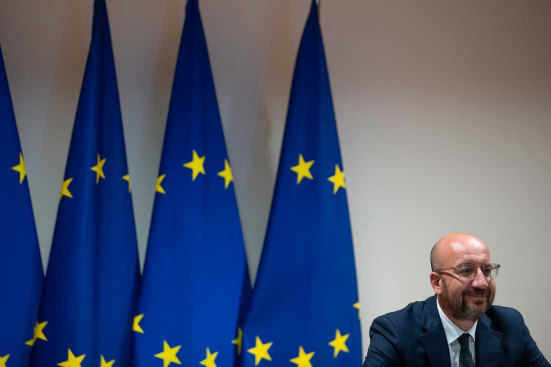 EU:s permanente rådsordförande Charles Michel laddar för ett hett midsommarmöte om coronastöd och nästa långtidsbudget. Arkivfoto.