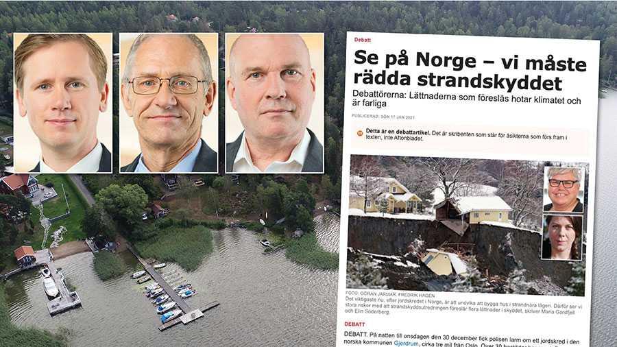 Låt kommunerna själva bestämma om strandskydd och flytta makten från storstäderna till landsbygden och medborgarna, skriver Roger Hedlund, Mats Nordberg och Runar Filper.