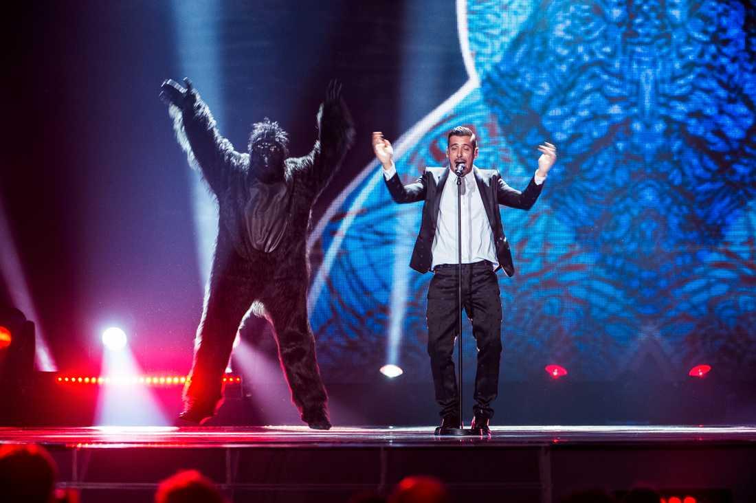 Gorillan... och Italiens Francesco vinner Eurovision 2017, enligt spelbolagen.