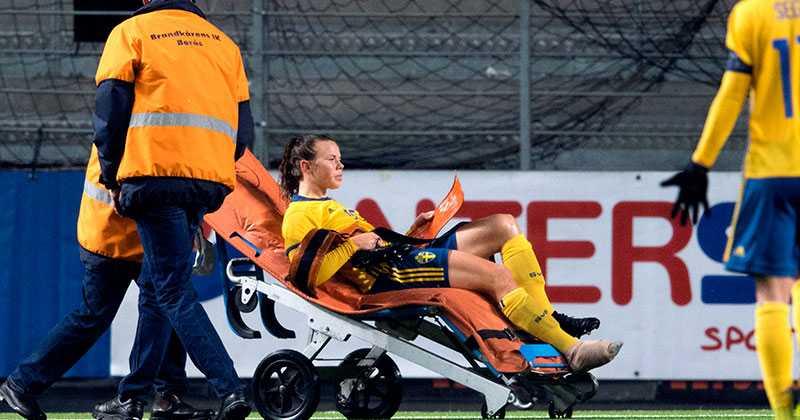 24 oktober i fjol skadade sig Jessica Samuelsson i VM-kvalet hemma mot Ungern.