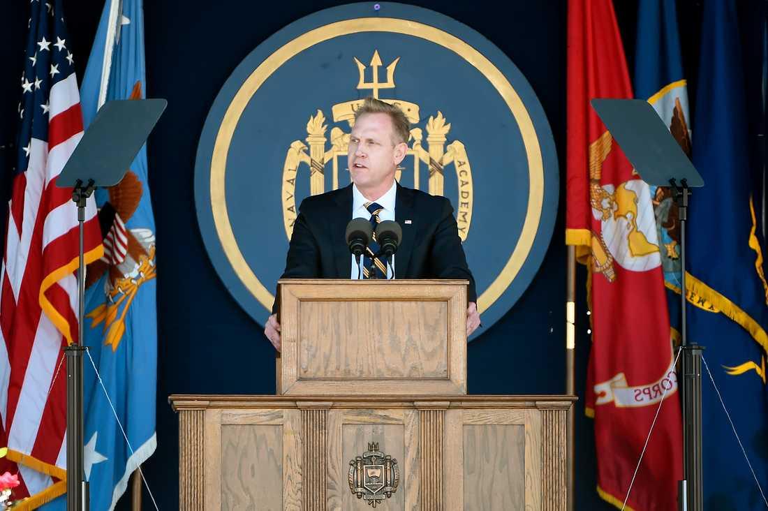 USA:s tillförordnade försvarsminister Patrick Shanahan. Arkivbild.