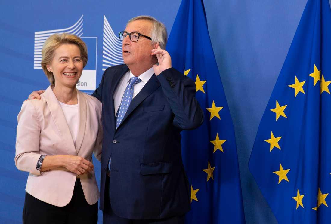 Ursula von der Leyen och Jean-Claude Juncker.