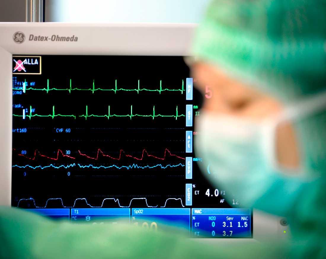 Den svenska hjärtvården rullade i stort sett på som vanligt, trots pandemin. Vissa planerade operationer blev dock tvungna att skjutas upp. Arkivbild.