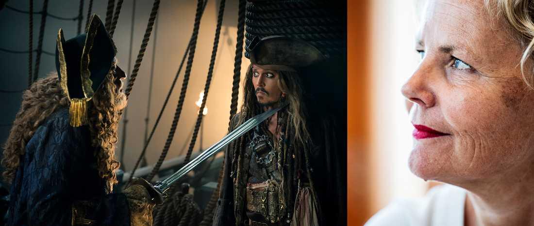 Spelar det någon roll om Pirates of the Caribbean regisseras av en kvinna? Till höger syns Anna Serner, VD för Svenska Filminstitutet.