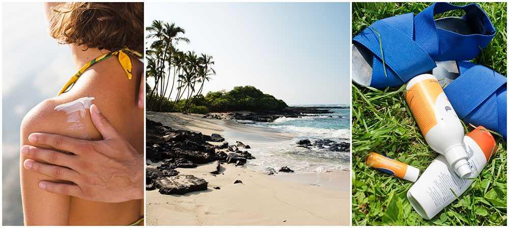Vissa kemikalier i vanliga solkrämer hotar det marina livet.