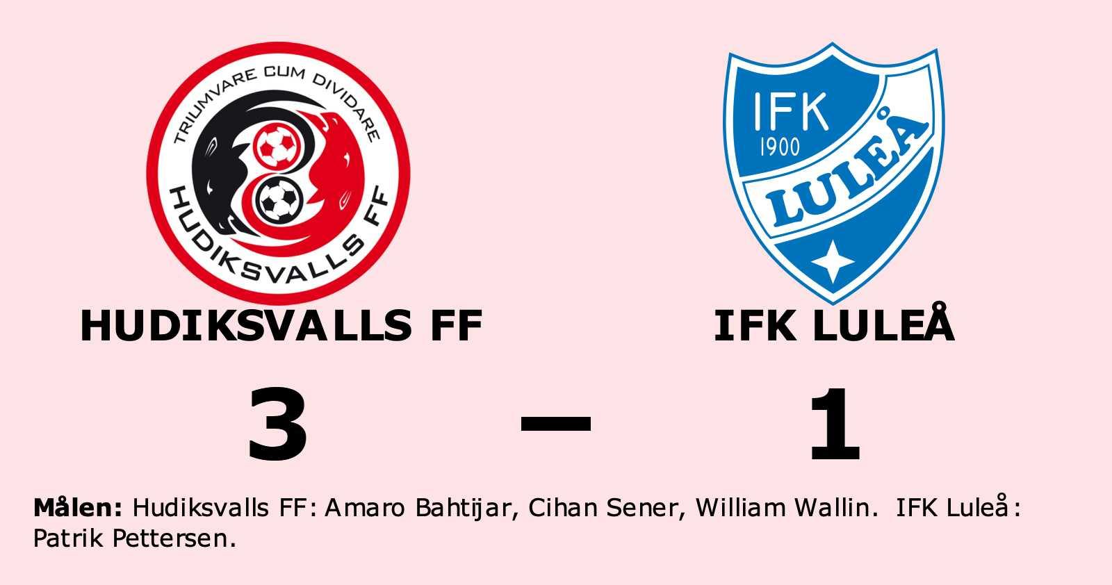 IFK Luleå föll mot Hudiksvalls FF trots ledning
