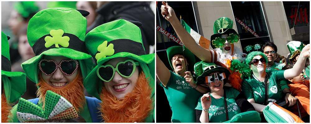 Party, parader och pints på St Patrick's day.