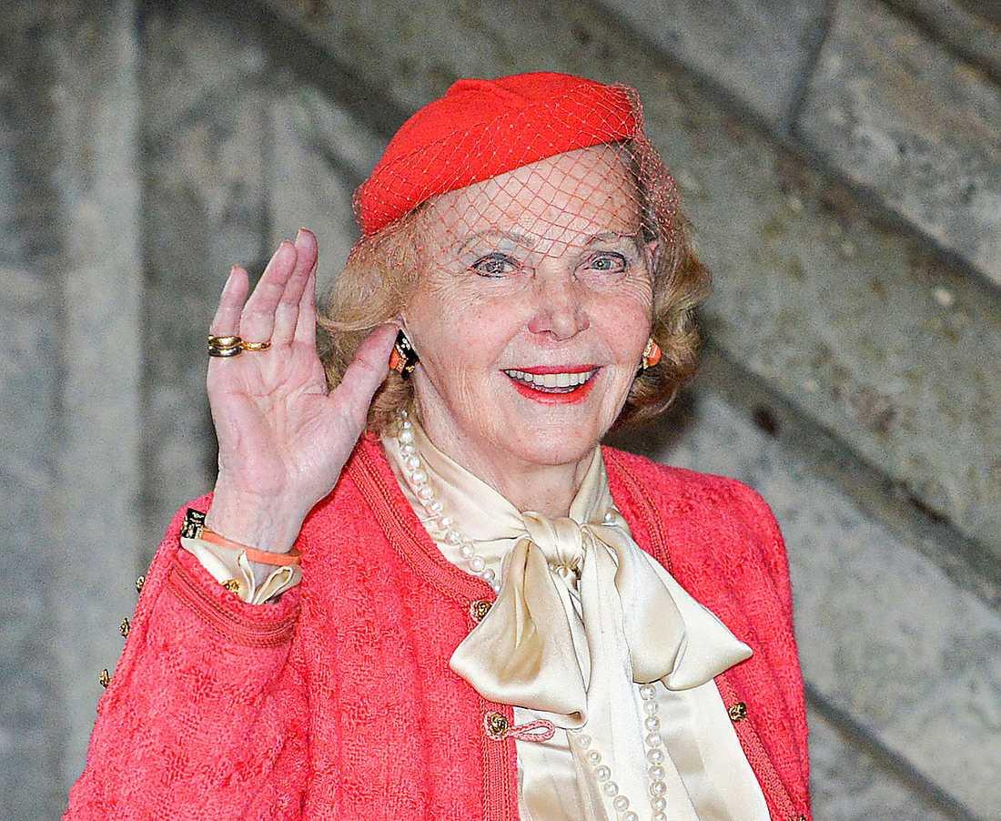 Marianne Bernadotte, 91 Änka efter designprinsen Sigvard Bernadotte (1907-2002). Begärde självrättelse 2012 för en utländsk förmögenhet på 44 miljoner kronor, pengar som uppges komma från ett arv.